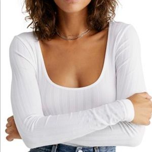 Free People Layering Snug Fitted Top